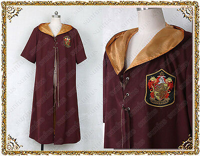 Harry Potter Quidditch  robes Gryffindor  Cosplay  anime costume movie