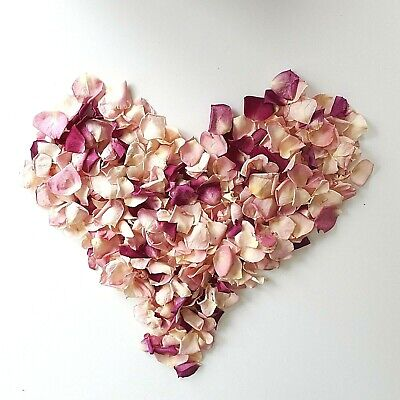 Dried Rose Petals for decoration .1 Liter (5 cups). Buy 3L get 1 more FREE!