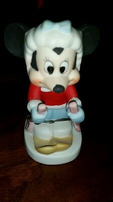 Walt Disney Productions Minnie Mouse on Skis Figurine Ceramic Disney Collectable