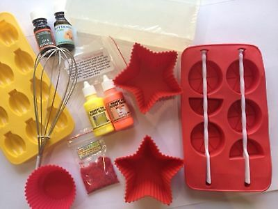 BULK CUPCAKE SOAP MAKING KIT: Melt + Pour Base, Silicone Moulds, Fragrance oils