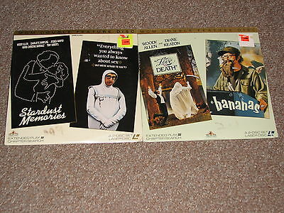 LOT OF TWO LASERDISC MOVIES WITH DOUBLE FEATURES = 4  (NEW SEALED, WOODY ALLEN