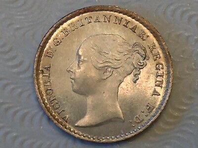 - Great Britain 1864 Victoria Silver Maundy Penny – Choice uncirculated