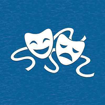 Comedy Tragedy Drama Masks Vinyl Decal Sticker Theater Theatre Acting