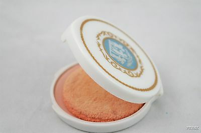 Vintage Revlon Love-Pat Light Makeup Compact Blue and White Angel Cameo