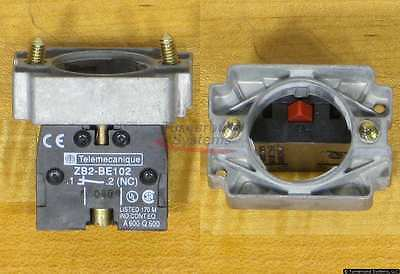 Telemecanique ZB2BZ102 Contact Block With Mounting Base, Lots Of 10, NEW!