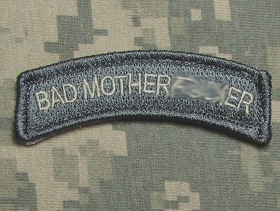 Bad Motherf**ker Tab Army Usa Military Isaf Acu Light Hook & Loop Morale Patch