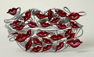 "David Gerstein Art ""100 Kisses"" Modern Metal Sculpture"