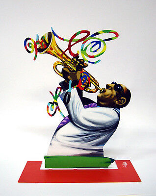 David Gerstein Metal Art - Trumpet Player - Jazz Club - Metal Modern Sculpture