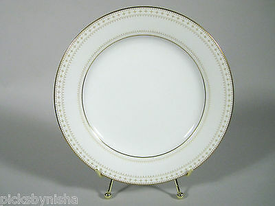 10 Noritake 2030 Barrington Lunch Plates 8 1/4 In Gold Scrolls China Japan White