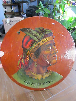 "Sleepy Eye Milling Co Logo on Wooden Board dated 1942    11"" across"