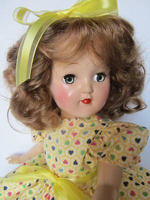 "SUCH A SWEETHEART~1950's IDEAL TONI DOLL~ADORABLE ""HEART"" DRESS"