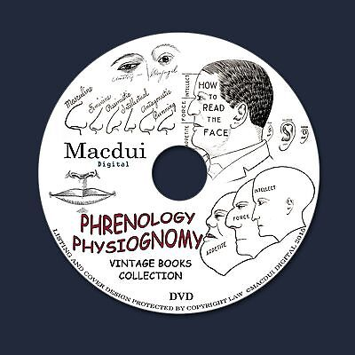Phrenology, Physiognomy, How to read character, Andronomy 51 PDF E-Books 1 DVD