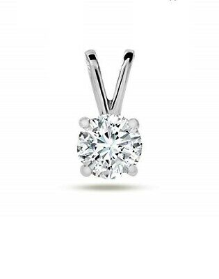 Solid 14kt Gold Round 4 prong Solitaire Snap-tite pendant settings for 6mm stone