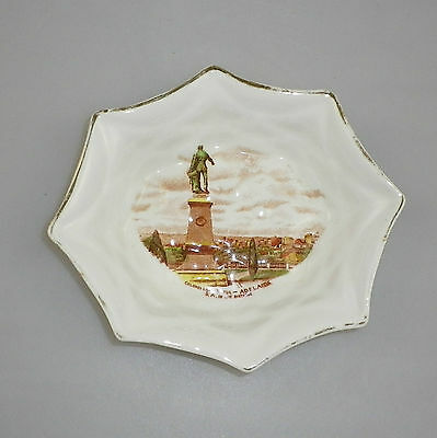Vintage Royal Standard China Souvenir Pin Dish Colonel Light Statue, Adelaide