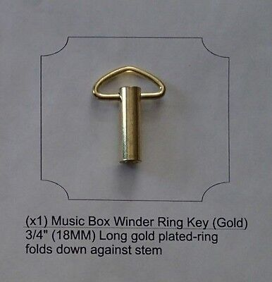 Music Box Gold Replacement Key