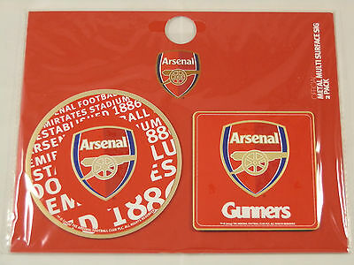 Arsenal FC Metal Multi-Surface Adhesive Sign 2-pack - Official Merchandise