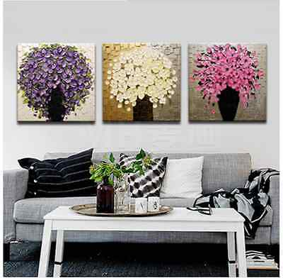 MODERN ABSTRACT HUGE WALL ART OIL PAINTING ON CANVAS- flower (no framed)