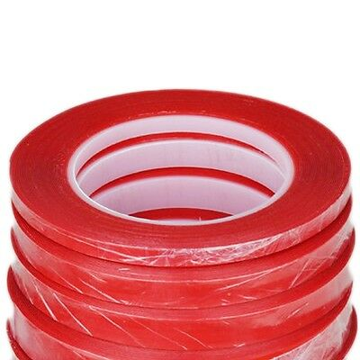 25M Ultra Clear Super PET Double-Sided Adhesive Glue Tape Sticky With Red Liner