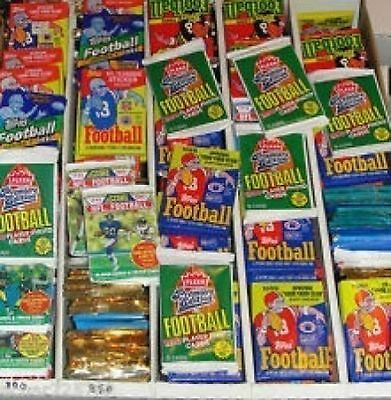 Great Lot of 150 OLD Unopened FOOTBALL Cards in Packs