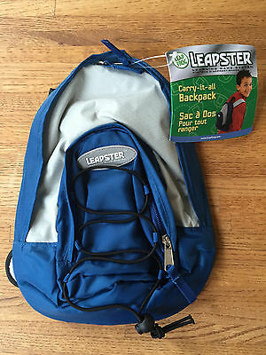 NWT LeapFrog Leapster Blue Grey Multimedia Learning System Backpack EASTER NEW