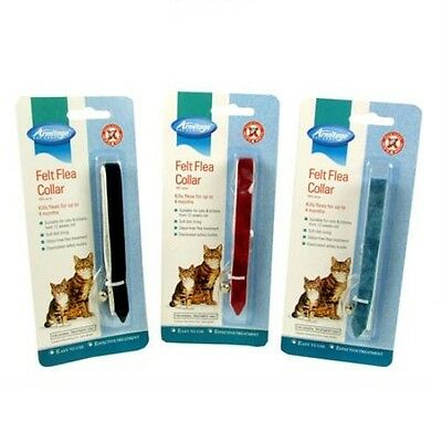 Armitage 3 Cat Kitten Felt Flea Collar Kills Fleas Reduced Adjustable Collars