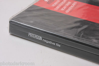 """Paterson Negative File 6x6 4-Ring Binder 1.5"""" 25 Pages for 120 220 620 - NEW T2"""