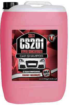 25 Litre Concentrate Car Shampoo Cherry Wash Wax Valeting Business Products V55