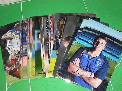 """*Clearance SALE 83 x Signed Warrington Wolves 12"""" x 8"""" Photographs Trade Offer*"""
