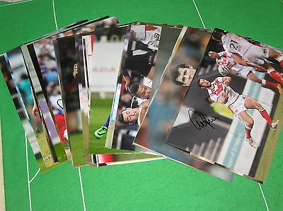 "*Clearance SALE 46 x Signed St Helens RLFC 12"" x 8"" Photographs Trade Offer*"