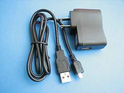 AC Wall Battery Charger + USB Cable Cord For Kodak EasyShare M5350 M590 Camera