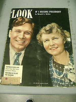 Look Magazine October 22 1940 Wendell Willkie For President