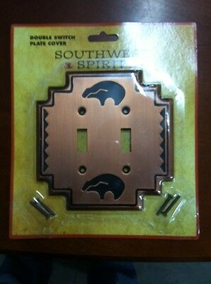 """""""Copper Bear"""" Double Switch Plate Cover from Big Sky Carvers"""