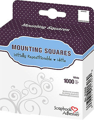 3L 01606 1000 MOUNTING SQUARES WHITE Initially Repositionable