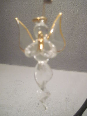 SIVESTRI? GLASS ANGEL HOLDING A CANDLE (0052)
