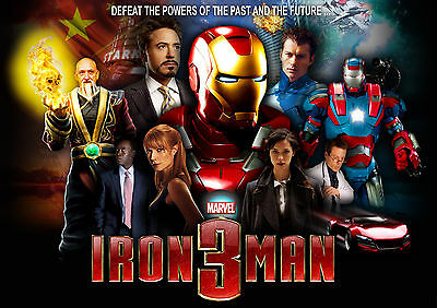 Iron Man 3 Movie Wall Art Poster (A1 - A5 Sizes Available)