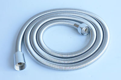 1.5M Stainless Steel Spring Shower Hose Triton Mira Aqualisa Grohe Replacement