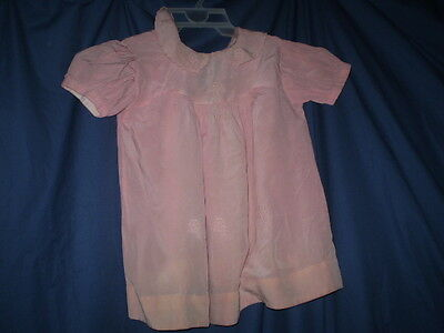 Vintage  dress little girl  silk with embroidery  pale pink