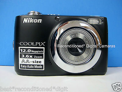 NIKON Coolpix L22 BLACK-RECONDITIONED-DEPENDABLE-CLEAR PICTURE-LIGHT WEIGHT