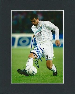 Dejan Stankovic Hand Signed Mounted Autograph Photo Lazio Serbia Inc Coa