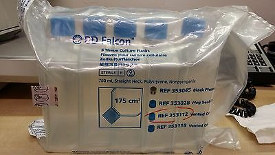 Falcon 175cm2 Tissue Culture Flask Straight Neck With Vented Cap PK/5