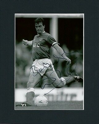 Kevin Ratcliffe Everton Fc Hand Signed Mounted Autograph Photo 10X8 Inc Coa