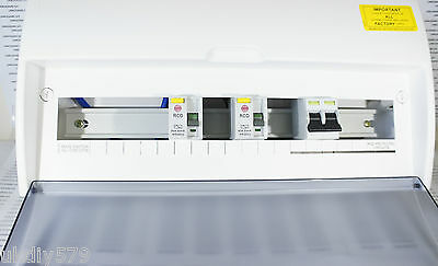 Wylex 15 Way Consumer Unit with 100A Main Switch 2 x 80A RCDs Fuseboard (D2003)