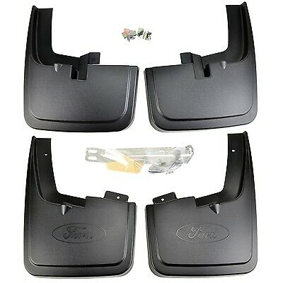 NEW OEM 15-16 Ford F-150 Front, Rear Mud Flaps SET Wheel Lip Mouldings, Flairs