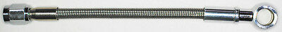 "AN-3   8"" long, stainless steel braid hose, ST X ST banjo 3/8""-10M  NC"