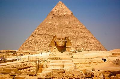 GREAT PYRAMIDS GIZA GLOSSY POSTER PICTURE PHOTO egypt tomb king sphinx cool 2207