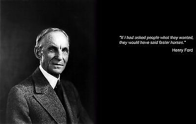 HENRY FORD QUOTE GLOSSY POSTER PICTURE PHOTO cool cars Detroit historical 2152