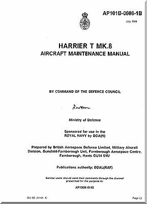 Aircraft Manual:BAe / Hawkker Siddely Harrier T Mk8   Airframe Maintenance DVD
