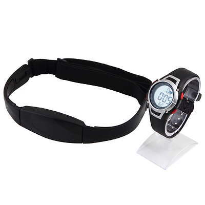 Waterproof Sport Pulse Heart Rate Meter Calorie Counter Monitor Watch Fitness DE
