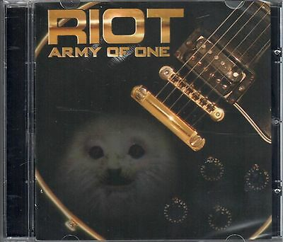RIOT - ARMY OF ONE - CD NEW OOP!!! RARE SEALED!!!