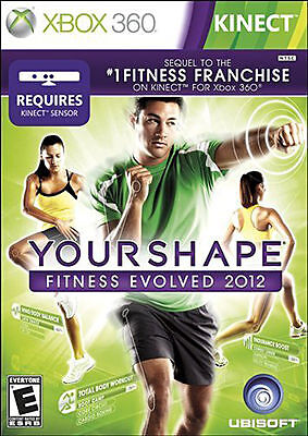 XBOX 360 KINECT YOUR SHAPE FITNESS EVOLVED 2012 BRAND NEW  VIDEO GAME